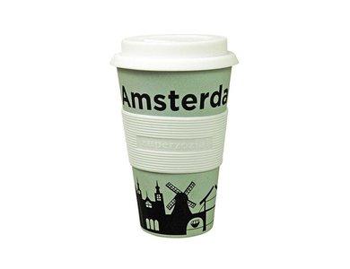 Biologosch afbreekbare travel mug Amsterdam