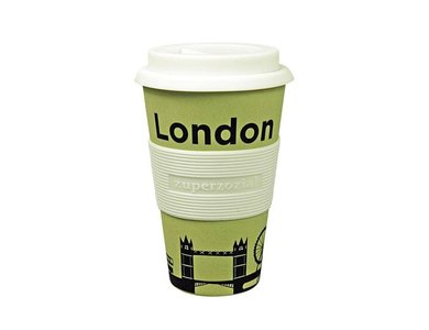 Bamboe Travel Mug London (100% biologisch afbreekbaar)
