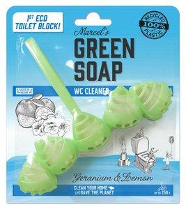 Toiletblokjes Geranium Limoen (Marcel's Green Soap)