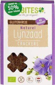 Lijnzaadcrackers Naturel 90 gram (biologisch)