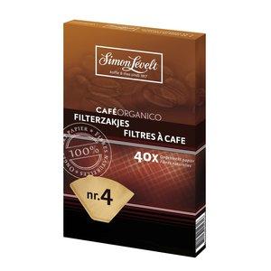 Ongebleekte koffiefilters nr 4 (40 stuks)