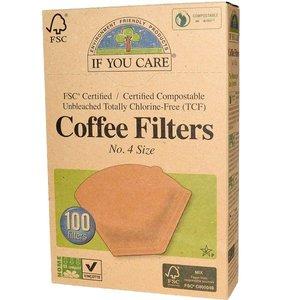 Ongebleekte Koffiefilters nr 4 (100 stuks)