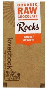 Lovechock Rock Almond Cinnamon (raw) 80 gram (biologisch)