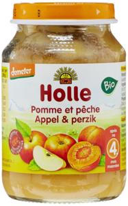 Fruithapje Appel en Perzik (6x) v.a. 4 maand (biologisch)