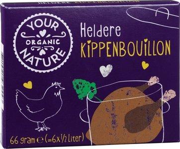 Kippenbouillonblokjes zonder gist (biologisch)