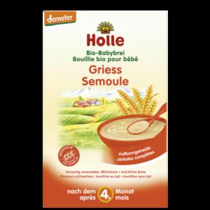 Biologische babyvoeding Holle Griesmeelpap