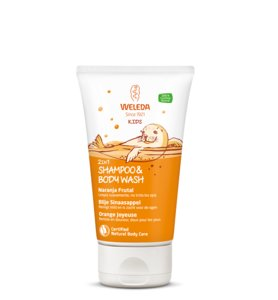 Weleda Kids Shampoo en Bodywash Sinaasappel 150 ml