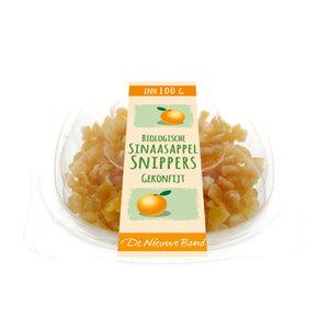 Gekonfijte Sinaasappelsnippers 100 gram (biologisch)