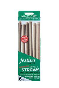 Bamboe rietjes zonder plastic