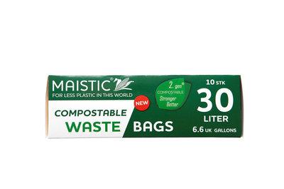 Plasticvrije Afvalzakken 30 liter (10 stuks)