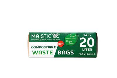 Plasticvrije Afvalzakken 20 liter (14 stuks)