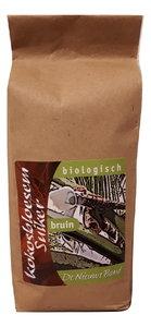 Biologische kokosbloesemsuiker in papieren zak
