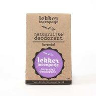 Smeerbare deodorant Lavendel van lekkerineenpotje